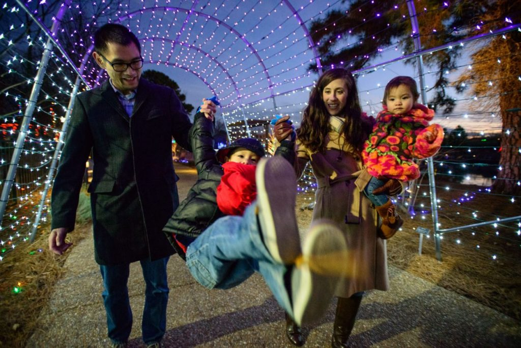Family at Dominion Energy GardenFest of Lights Garrett Nasrallah