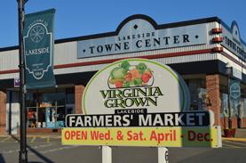 Lakeside Farmer's Market Sign