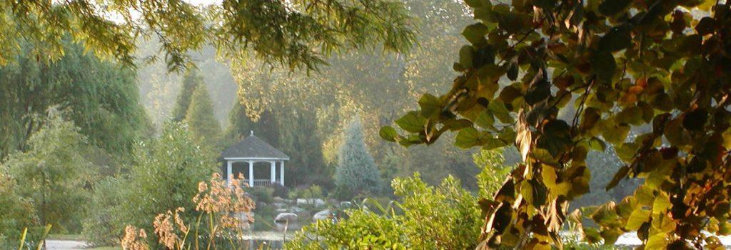 Gazebo across the Lake at Lewis Ginter Botanical Gardens