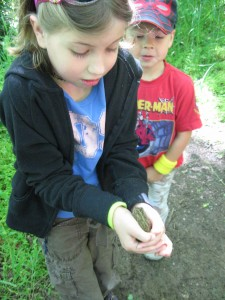 That is my daughter at the river holding her first frog, check out my son's face!