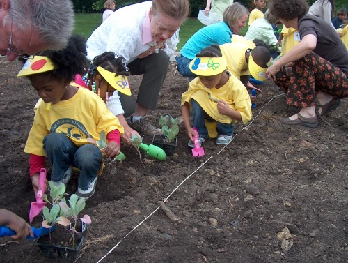 The kids get down in the dirt!