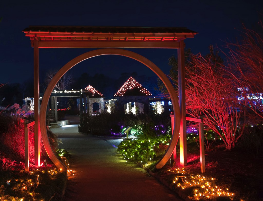 The moon gate during Garden Fest, photo by Don Williamson