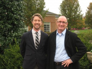 Thomas L. Woltz, ASLA and Douglas Reed, FASLA,  at Lewis Ginter Botanical Garden for the Gillette Forum.