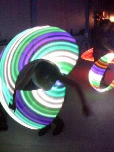 LED-lighted hoops make for great photos!