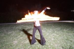 Fire hoop dancing: WOW!