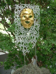 Gold Frabel Mask in the Conservatory
