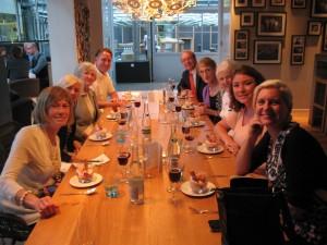 Lewis Ginter Botanical Garden's travel group at Restaurant De Kas, the 'greenhouse restaurant.'
