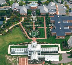 The Central Garden at Lewis Ginter Botanical Garden