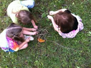 sabot school kids creating