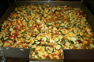 The final result: Buttered squash with tomatoes. This looks irresistible - and I don't even like squash!