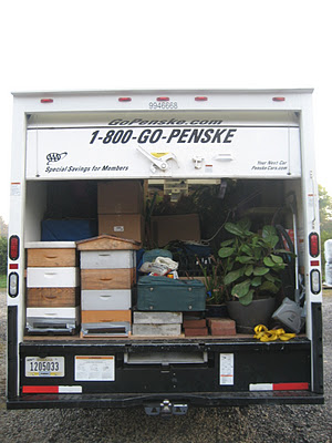 Grace's moving van -- and the bees!