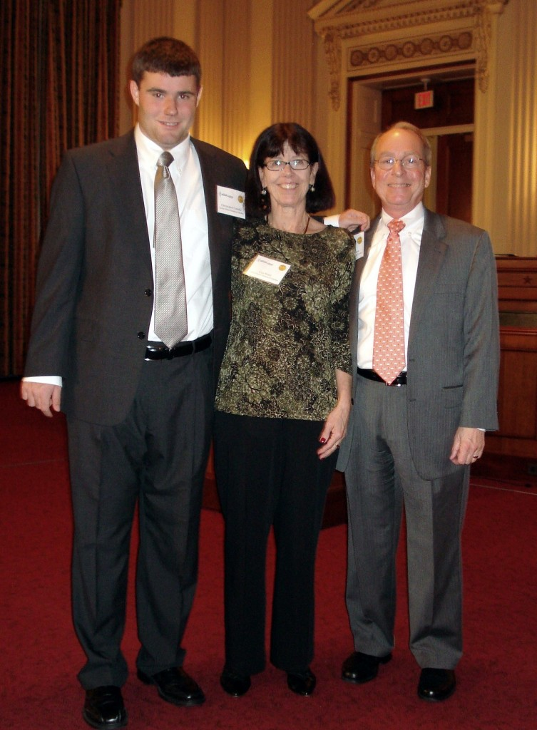 Chris Corsello, Lisa Watts, his aide, and Garden CEO & President Frank Robinson