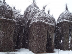 Patrick Dougherty's Diamond's in the Rough stick sculpture