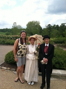 Grace Chapman with Lewis Ginter and his niece Grace Arents