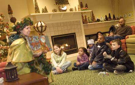 The Garden Keeper at storytime on Merry Mondays