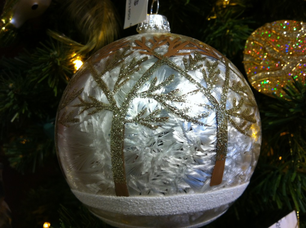 Another favorite -- a glass ball with trees. $11.95