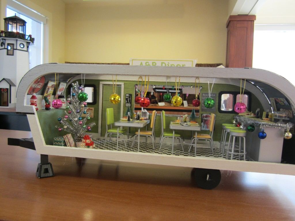 The A&B Diner, on display in the Lora Robins Library at Lewis Ginter Botanical Garden