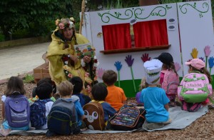 The Garden Keeper presents: Mushroom in the Rain, the puppet show.