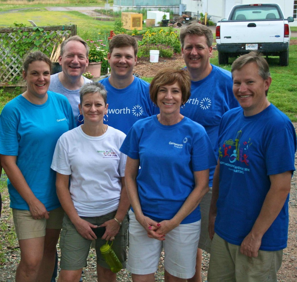 Nancy Mance (white t-shirt) and members of the Genworth Sales Services team.