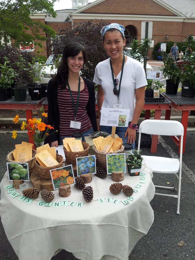 Youth Volunteers selling seeds at the Fall Plant Sale.