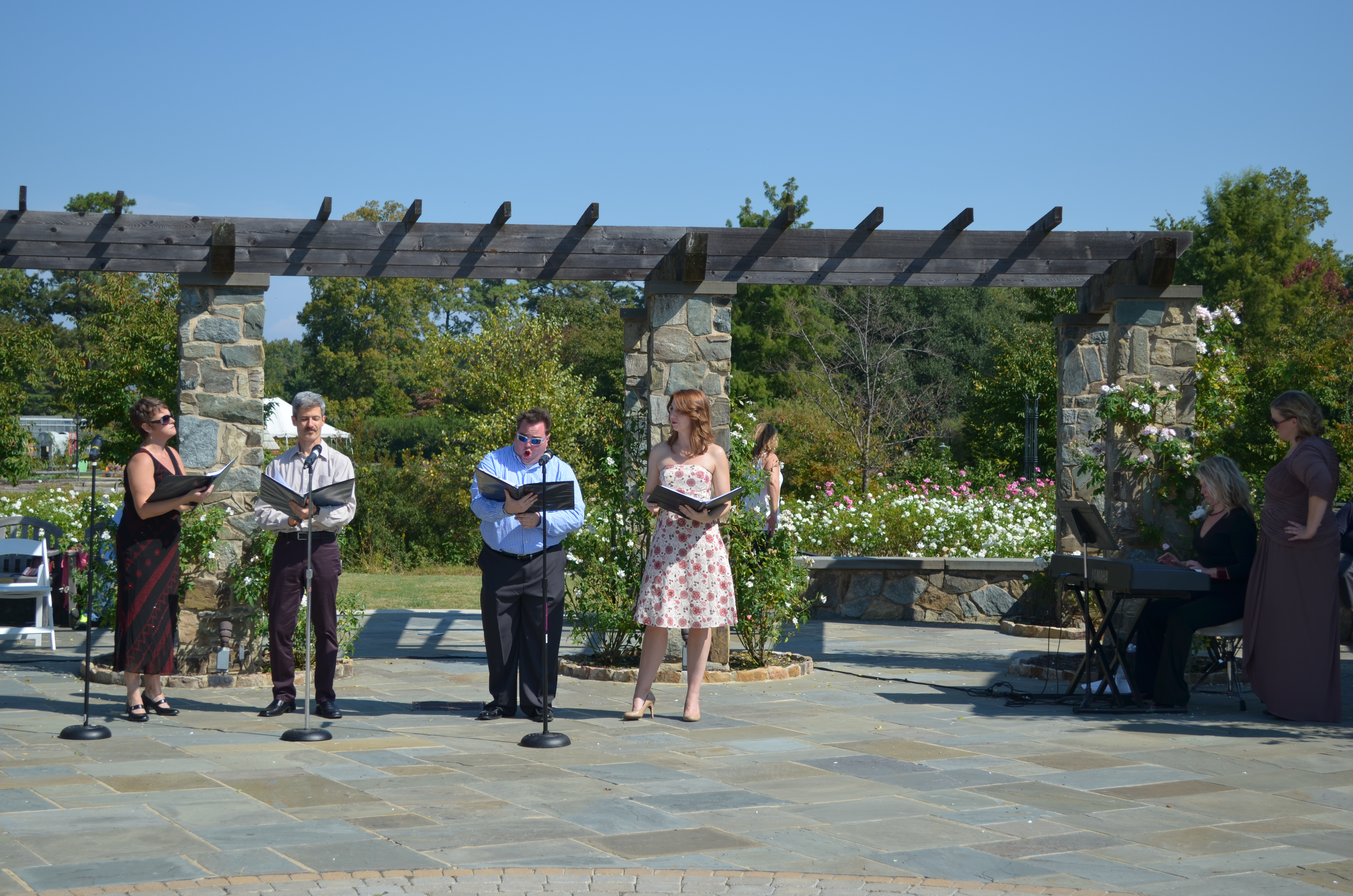 Capitol Opera Richmond in The Rose Garden at Lewis Ginter Botanical Garden