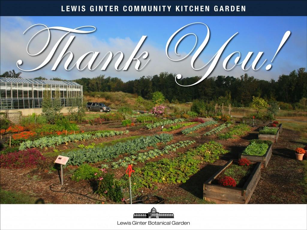 Thank You Community Kitchen Garden volunteers