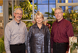 Tom Purviance and John Salventi with Martha Stewart