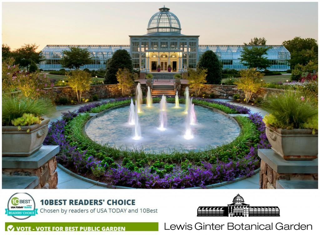 Lewis Ginter Botanical Garden is the No. 2 Best Public Garden in USA Today 10Best Reader's Choice awards