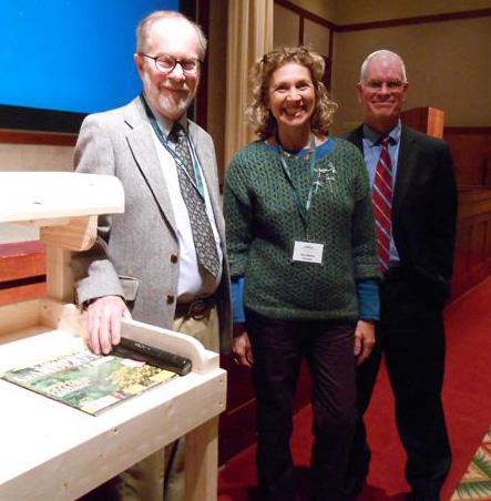 Volunteer Don Ziegler, Teresa Bettino  and Shane Tippett