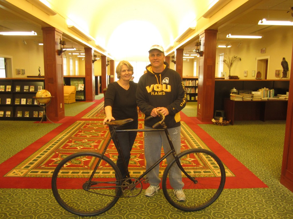 janet and tom houff on richmond's wheel bike