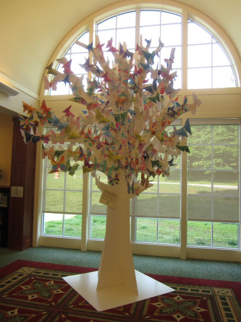 butterfly-filled tree