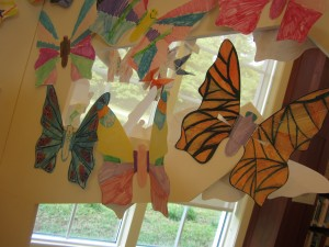 Butterflies made by kids at Dominion Riverrock