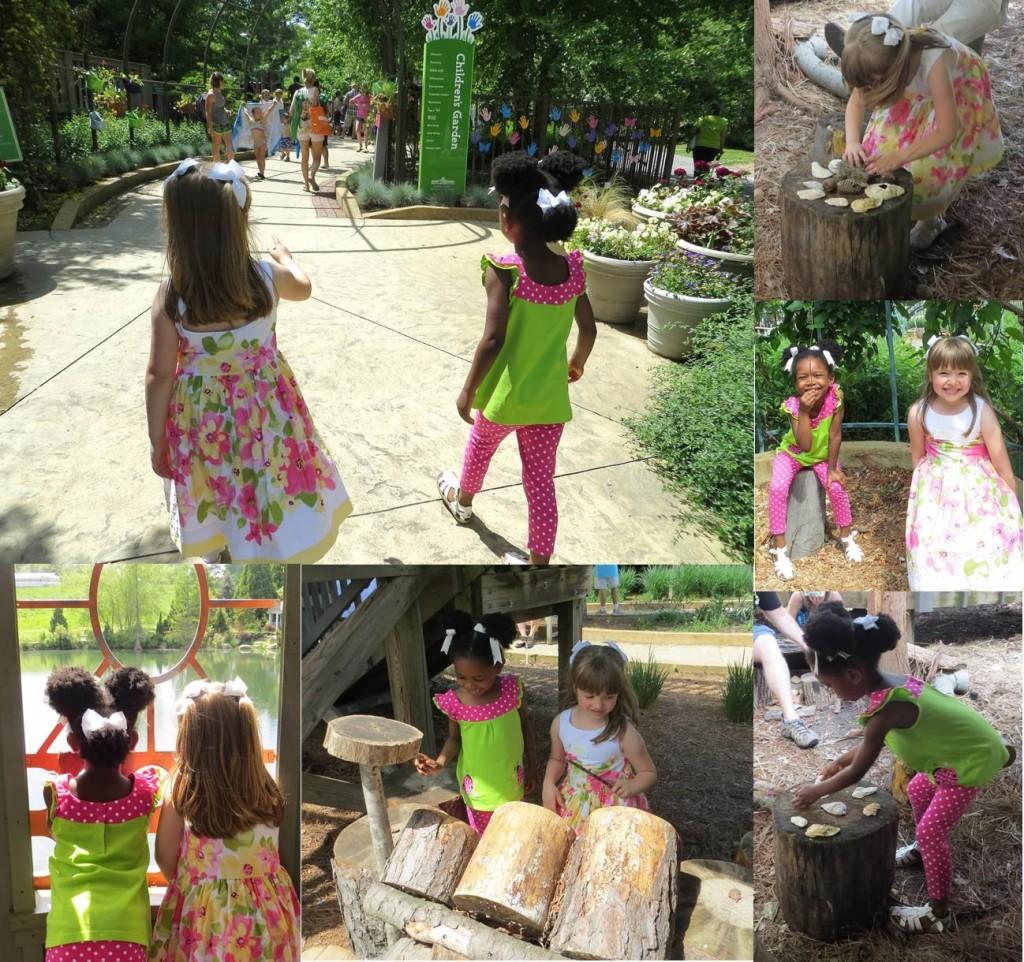 Playing in the Children's Garden