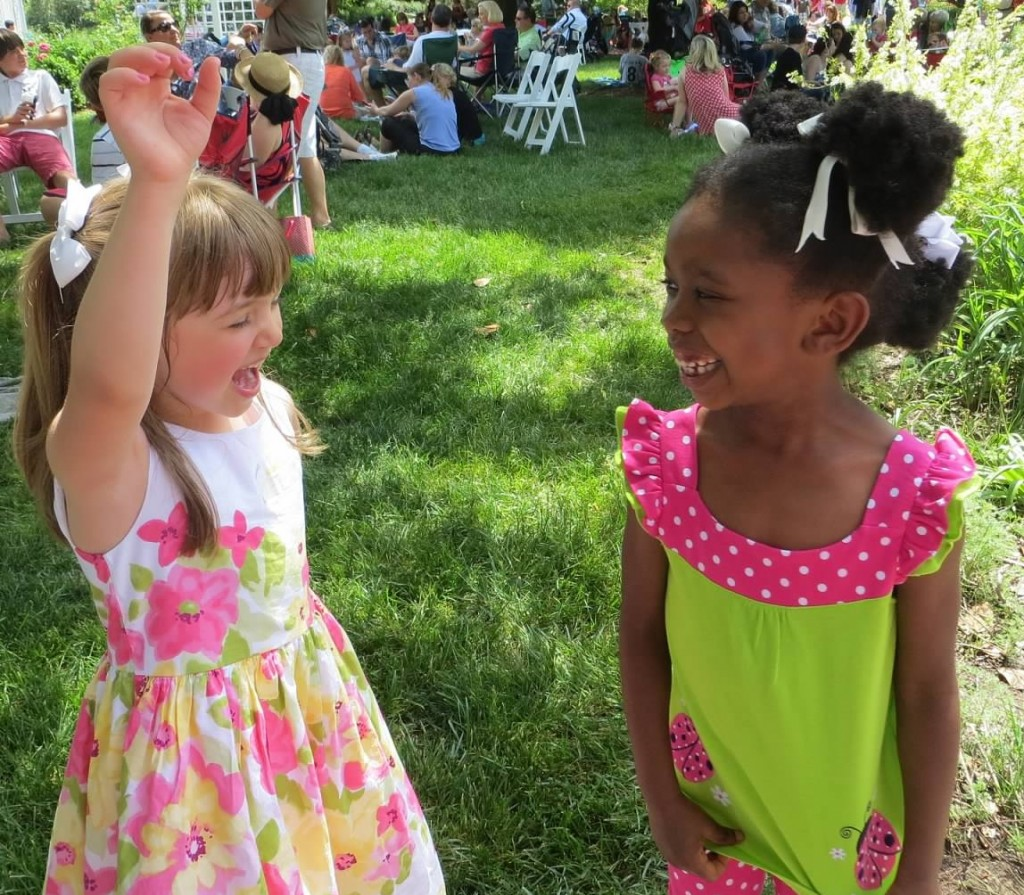 Dancing to the music during the Mother's Day Concert