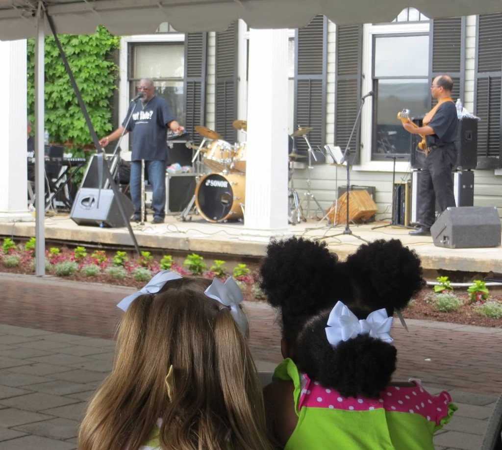 """Watching """"Pop Pop's band"""" Glennroy and Company during their final song."""