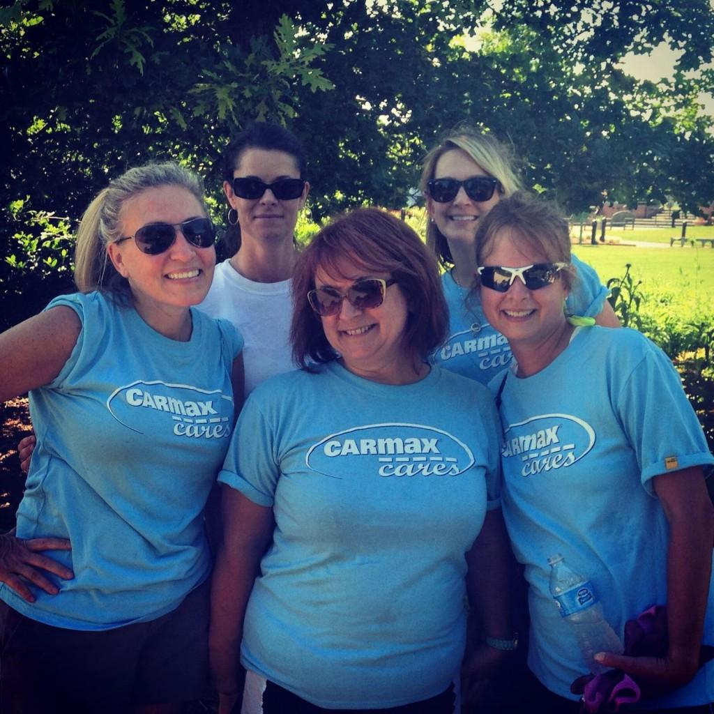 CarMax volunteers on June 6th, 2014 in the Children's Garden.