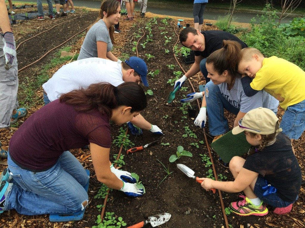 The group of students included a couple of next-generation attorneys helping Mom in the Garden.