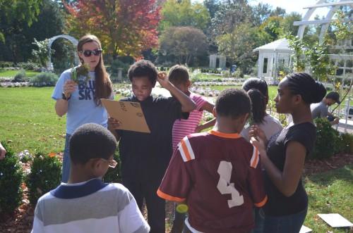 Children learning in Grace Arents Garden.