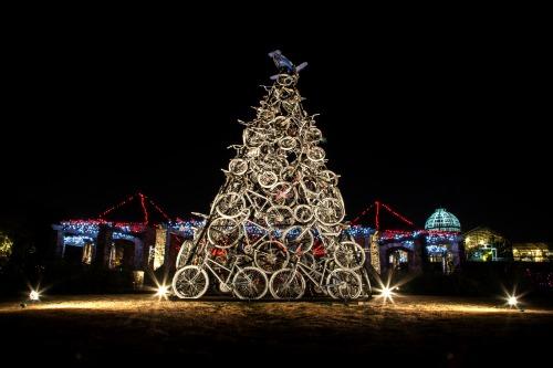 Bike sculpture at night sarah hauser