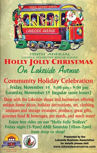 holly jolly poster with shopping details