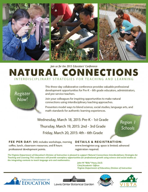 Natural Connections brochure and schedule of events. Website has full details.
