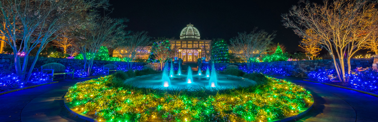 Holiday Lights At Dominion Gardenfest Of Lights At Lewis Ginter Botanical Garden