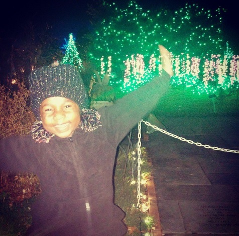 From the Instagram post: This is the first year we went to Garden Fest at Lewis Ginter Botanical Garden, Needless to say Noelle loved all the lights. This will become our Christmas tradition