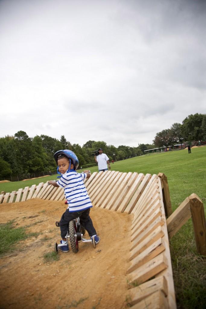 boy on bike at Richmond Cycling Corps