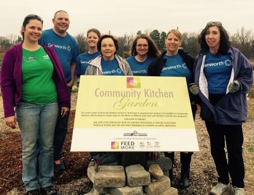 Genworth volunteers in the Community Kitchen Garden