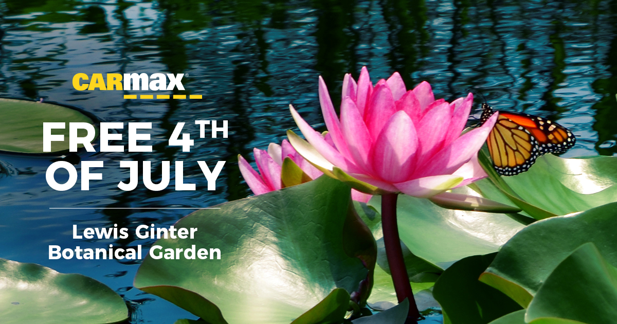 CarMax Free Fourth of July, July 4 free day at Lewis Ginter