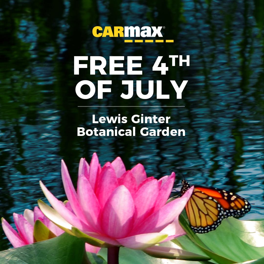 Carmax Free Fourth Of July Lewis Ginter Botanical Garden