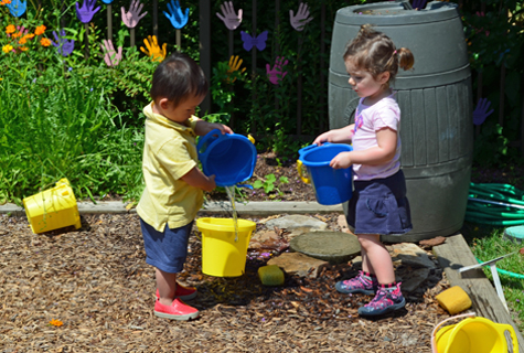 Children's Garden gallery-children watering