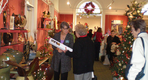 People Shopping at the Garden Shop during the Holiday Shoppers Fair