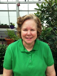 Butterfly Curator Lisa Shiffert in the conservatory